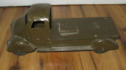 Antique 1930s Vintage Pressed Steel Marx Anti Aircraft Aa Truck Army Cannon Rare