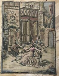 VTG FRENCH Tapestry . Made In France. CHIC 23 X 27