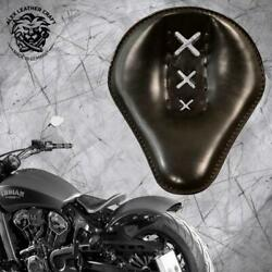 Bobber Seat Indian Scout Since`17 With Mounting Kit And Springs 4fourth Ams Black