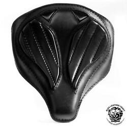 Bobber Chopper Custom Leather Handmade Solo Seat Spider Black V2