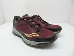 Saucony Womenand039s Peregrine 8 Running Shoes Maroon/copper Size 9.5m