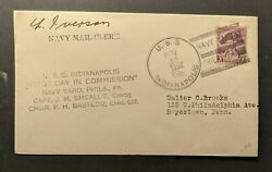 1932 Uss Indianapolis Navy Fdc Cover To Boyertown Pa Navy Yard Phila Pa Cancel