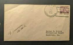 1936 Uss Indianapolis Navy Cover To Boyertown Pa Navy Day San Diego Cancel