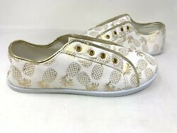 New Unbranded Womenand039s Pineapple Slip On Comfort Fashion Shoes Size10 81c Tz