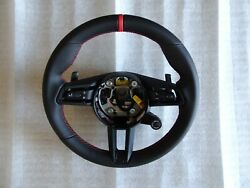 Porsche 2020 992 Carrera S Pdk Blk Leather M- F Steering Wheel Red Top And Stitch