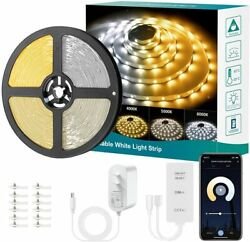 20ft Led Strip Light Under Cabinet Lighting Kit 6m Warm And Cool White Dimmable