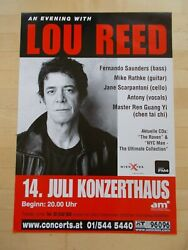 +++ 2003 Lou Reed Concert Poster July 14th Vienna Austria 1st Print