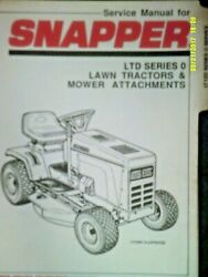 Used Snapper Ltd Series 0 Lawn Tractors And Mower Attachments Service Manual 07218