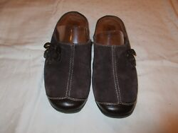 Naturalizer Natural Soul Fanner Mules Shoes Brown Size 8 M Used Euc
