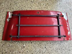 Triumph Tr3a Original Flat Hinge Trunk Lid Boot Complete With Luggage Rack
