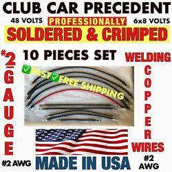 Club Car Precedent Battery Cables 2 Awg Hd Golf Cart Battery Cable 2 Gauge Set