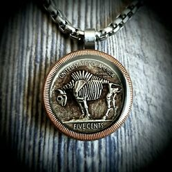 Hobo Nickel Necklace with 26quot; Stainless Steel Chain $21.99