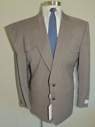 Nwt Canali Lt Gray/brown 100 Wool 2 Button 2 Piece Suit Size 40r