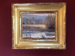 Gordon Brown Original Painting Oil On Panel With 22kt Frame