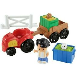 Nip Fisher Price Little People Farm Tractor And Trailer Set W/koby Figure Animals