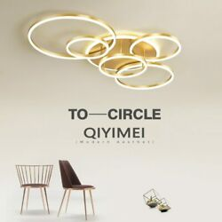 Gold White Coffee Painted Modern Led Chandelier Lighting Living Study Room
