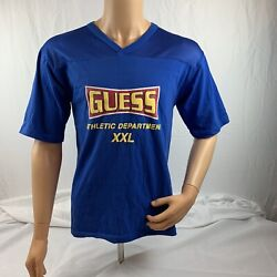 Vintage Guess Xxl Athletic Dept Red T-shirt Size Xl Fits Like Small Large Or Med