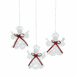 Crocheted Victorian Angel Ornaments - Home Decor - 12 Pieces