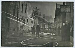 1907 Rp Npu Postcard H. Colton Factory Fire Disaster Hindley St Adelaide Sa L78
