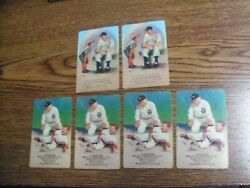 Honus Wagner 2 And Ty Cobb 4, Ca 1950s Playing Cards, Decent