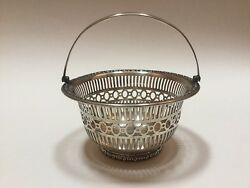 Bailey Banks And Biddle Sterling Silver Reticulated Pierced Basket - Excellent