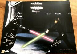 Mark Hamill Dave Prowse Signed Autographed Auto Star Wars 16x20 Photo Poster Jsa
