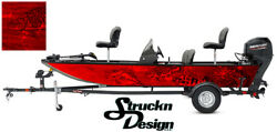 Boat Wrap Fish Perch Pike Crappie Musky Red Fishing Bass Graphic Vinyl Decal Kit