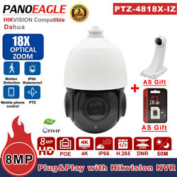 4k Compatible With Hikvision 360anddeg 18x Zoom Ptz Poe 8mp Security Ip Camera Ir 50m
