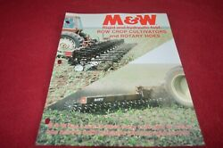 Mandw Rigid And Hydraulic Fold Row Crop Cultivators And Rotary Hoes Brochure Tbpa