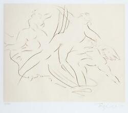 Reuben Nakian, Myths And Legends Plate Iii, Voyage To Crete Sepia, Drypoint E