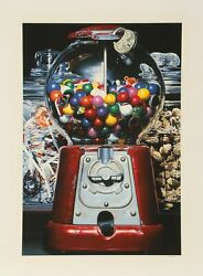 Charles Bell, Gumball Xv, Screenprint, Signed By The Estate Of Charles Bell