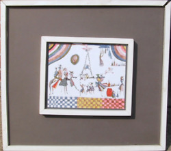 Dorothea Chemiakin The Stage Ink And Colored Pencil On Paper Signed