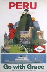 Travel Poster Peru - Go With Grace Poster
