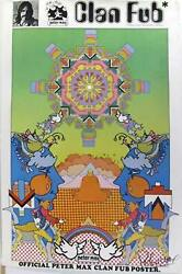 Peter Max, Clan Fub Fan Club, Poster, Signed