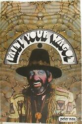 Peter Max Paint Your Wagon 2 Poster Signed In Marker
