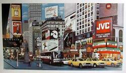 Ken Keeley, Times Square Day, Screenprint, Signed In Pencil