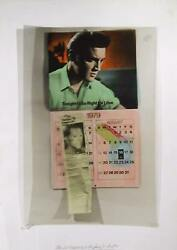 Jim Reed They Didnand039t Pretend To Be No Saints Elvis Lithograph With Overlay