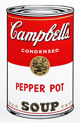 Andy Warhol, Campbell's Soup Can Pepper Pot, Screenprint, Stamped Verso By Sund