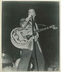 Unknown Artist Elvis With Elvis Guitar Reproduction Photograph