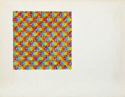 David Roth, Untitled Iii, Acrylic Painting On Graph Paper