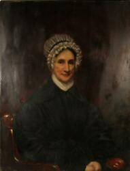 Unknown Artist 18th Century Woman Oil On Board Unsigned