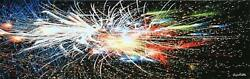 Michael Knigin Fireworks Ccxii Giclee On Canvas Signed