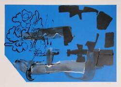 Stephen A. Davis Untitled 4 Mixed Media Painting Screenprint And Acrylic On P