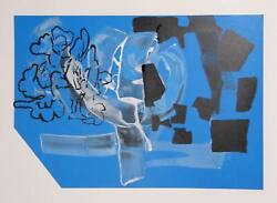 Stephen A. Davis Untitled 3 Mixed Media Painting Screenprint And Acrylic On P