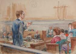 Marshall Goodman, Untitled - 12 Figures, Lawyer With Glasses From Behind, Marker