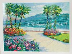 Alex Perez Village View Iii Screenprint Signed And Numbered In Pencil