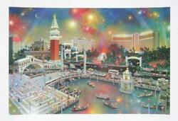 Alexander Chen Grand View Of Las Vegas Screenprint Signed And Numbered In Pen