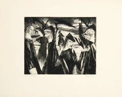 John Fenton Girls And Birds Etching And Aquatint Signed And Numbered In Penci