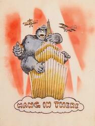 Marshall Goodman Hang In There King Kong Watercolor On Paper