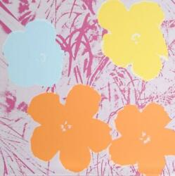 Andy Warhol Flowers 8 Screenprint Stamped In Blue Verso By Sunday B. Morning